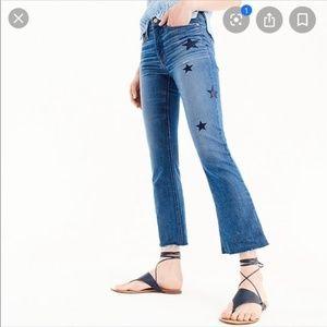 J Crew Billie Demin Boot Crop Jeans 28